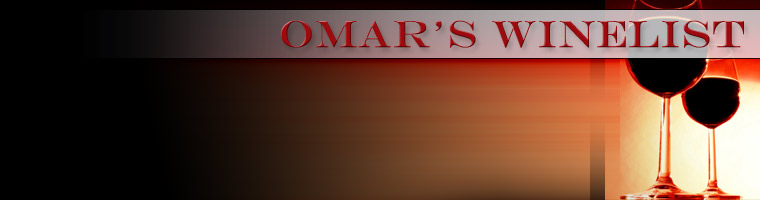 Wine List - Omar's Fine Seafood and Steaks - Ashland, OR 97520
